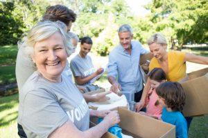 community members doing social work